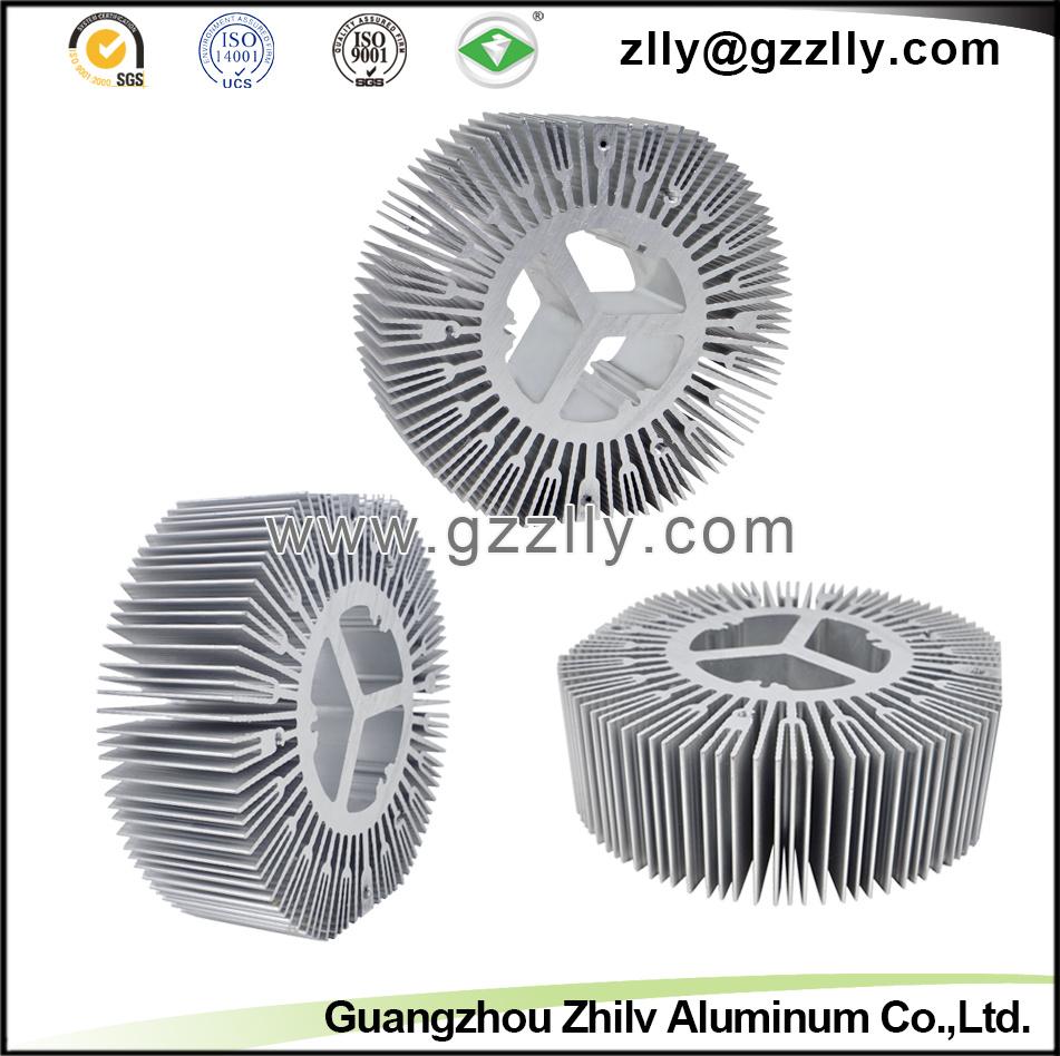 Sunflower Shape Aluminum Profile/ Aluminum Extruded Heat Sink/Radiator