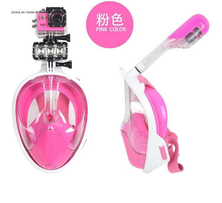 Fashionable Easy Breath Snorkeling Full Face Mask