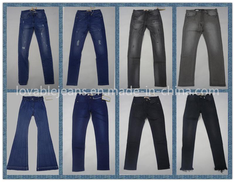 7.3oz Black Ladies Pants (HY16002C)