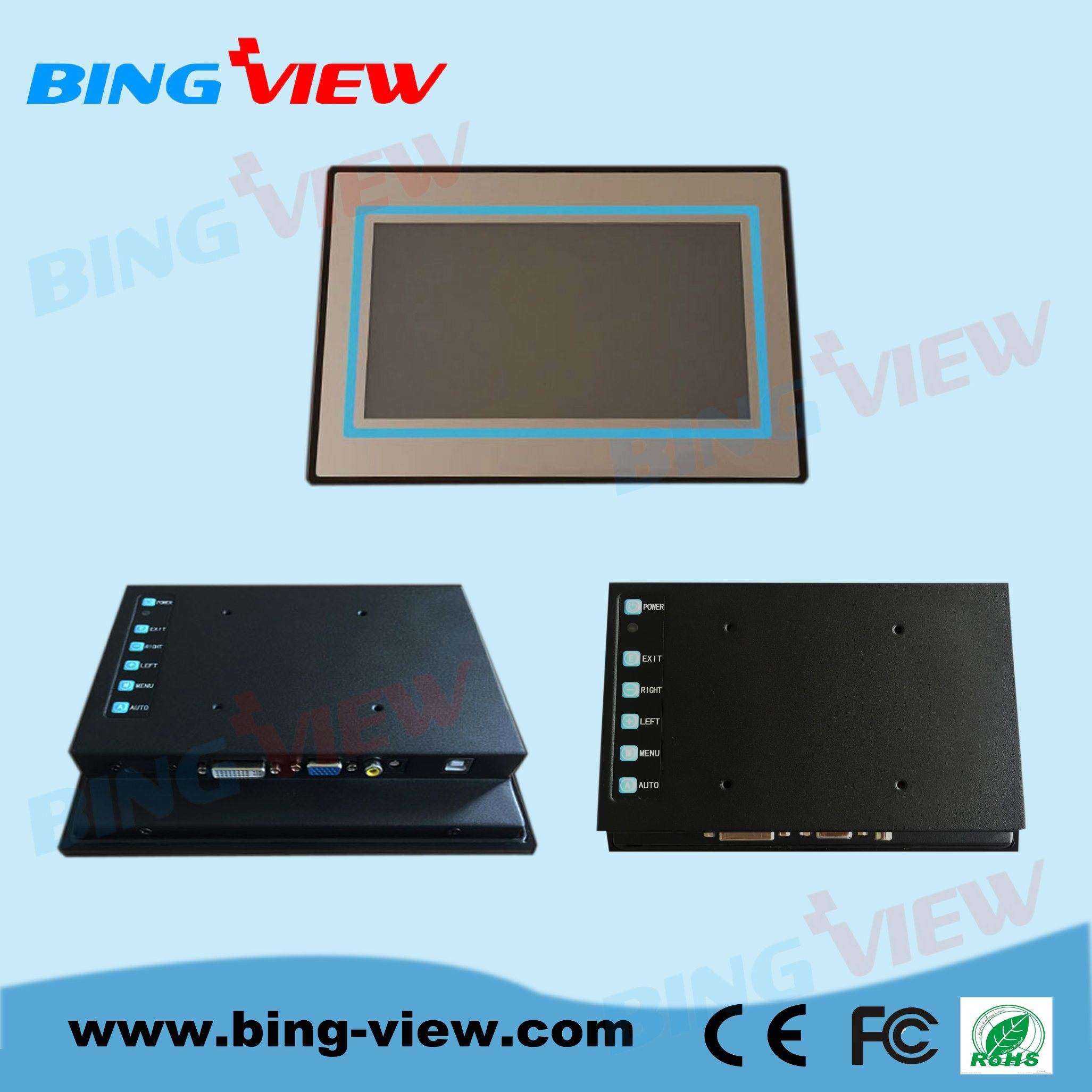 "12.1 ""10 Points Touch Screen Display with Pcap Technology for Industrial Automation Monitor"