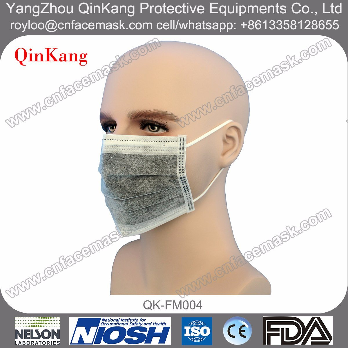 Active Carbon Non Woven Disposable Dust Mask with Ce Approved