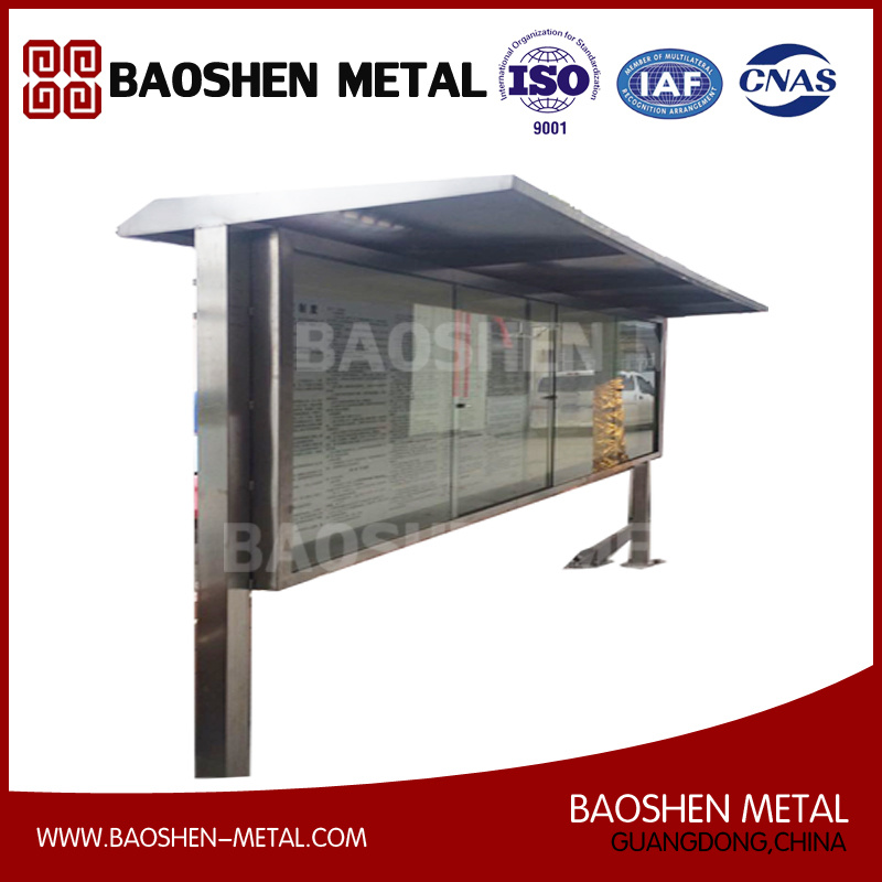 Outdoor Furniture Bus Shelter Box Stainless Steel Sheet Metal Fabrication