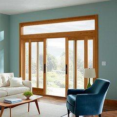 Europe Style Timber Wood Door, Folding/Hinged Glass Patio Door