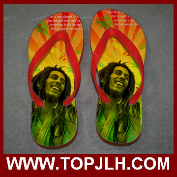 Good Quality Customized Image Print Sublimation Flip Flops