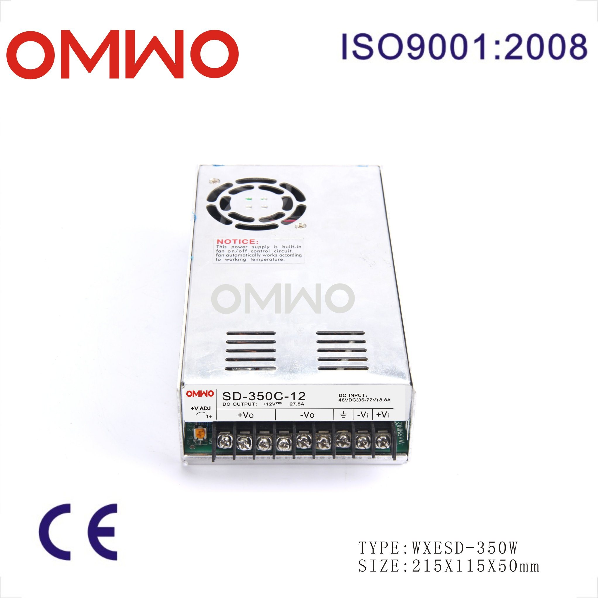 Single Output AC to DC Converter Wxesd-350d-5