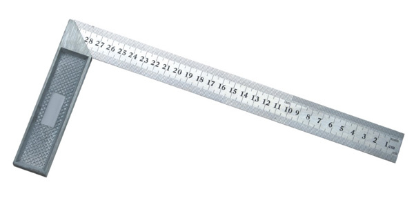 Steel Angle Square/Try Square Ruler with Good Quality Single Marking