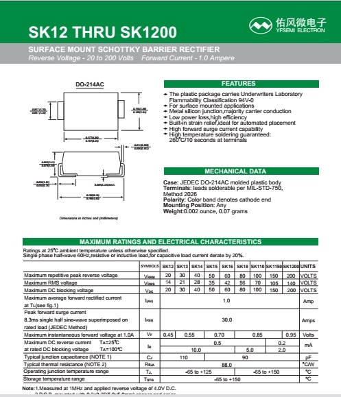 Smbj5.0A Tvs Diode for Smart Meter