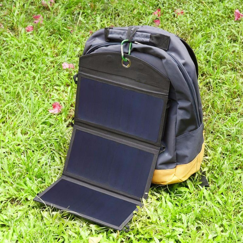 20W Solar Power Bank Charger with 2*2.4A Dual USB Ports