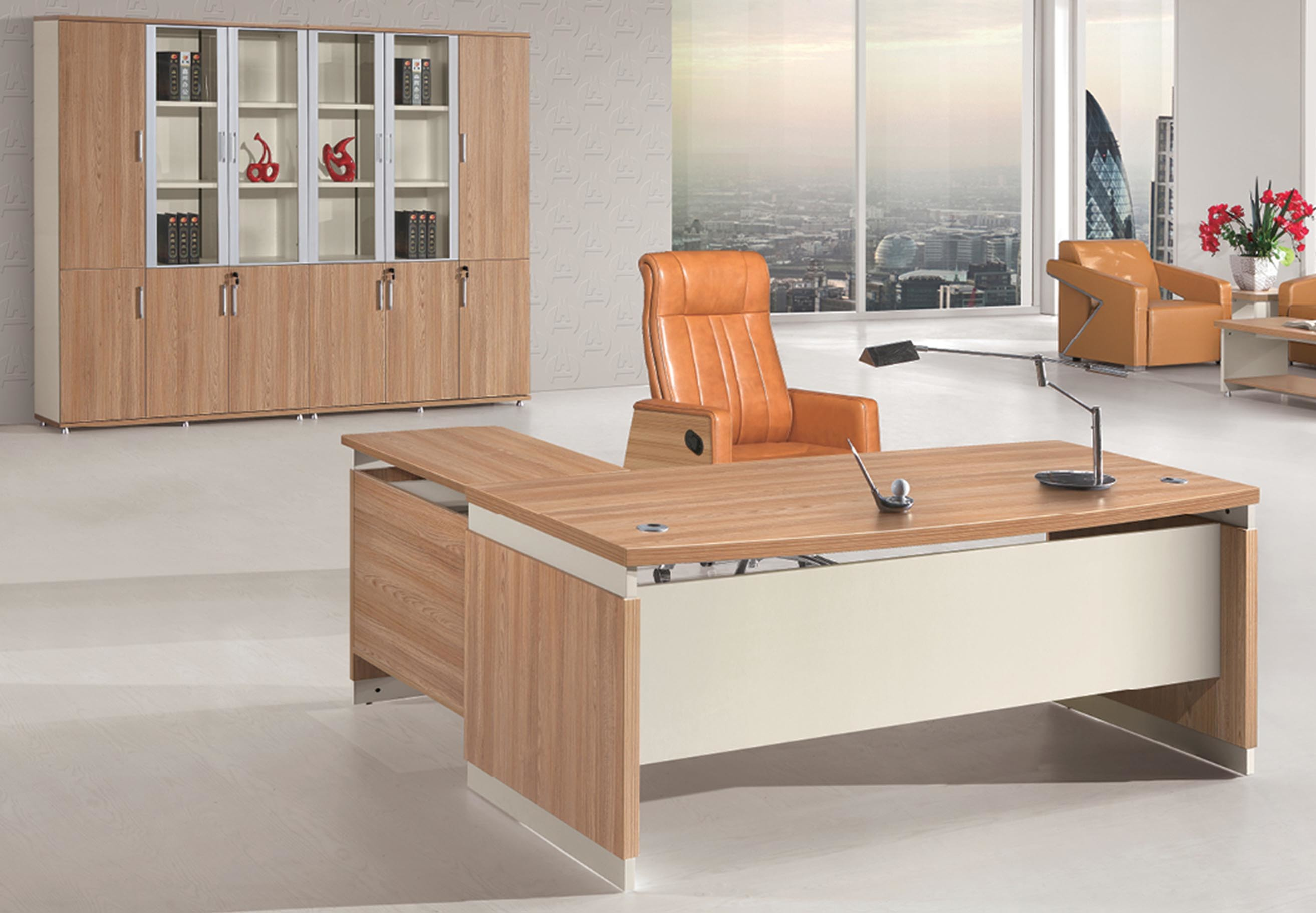 Modern Boss Computer Table Wooden Executive Office Desk