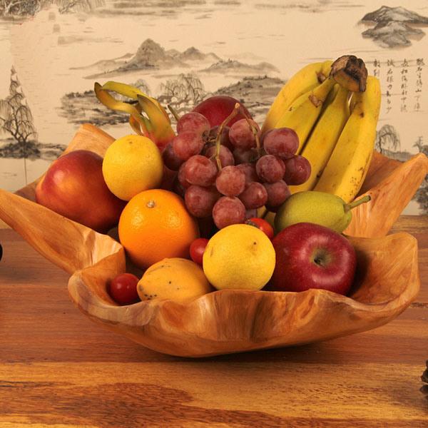 Newest Fashion Modern Design Crafts Fruit Wooden Bowl