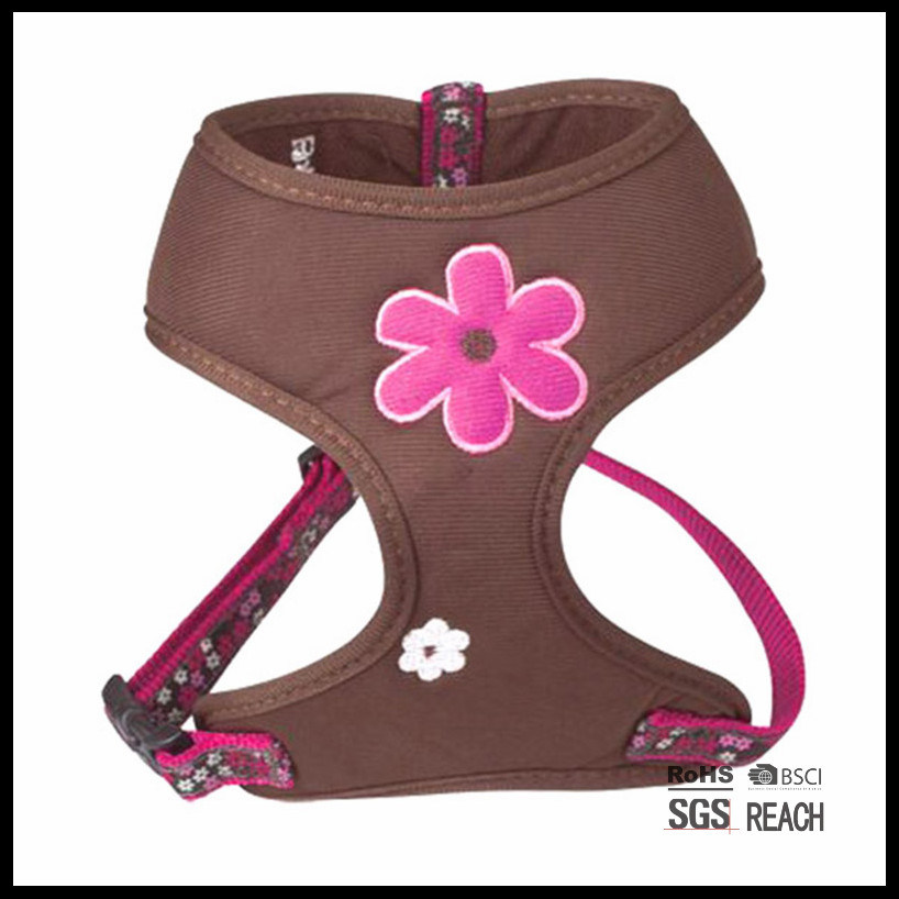 Adjustable Cute Soft Girl Designer Pet Dog Mesh Vest Harness