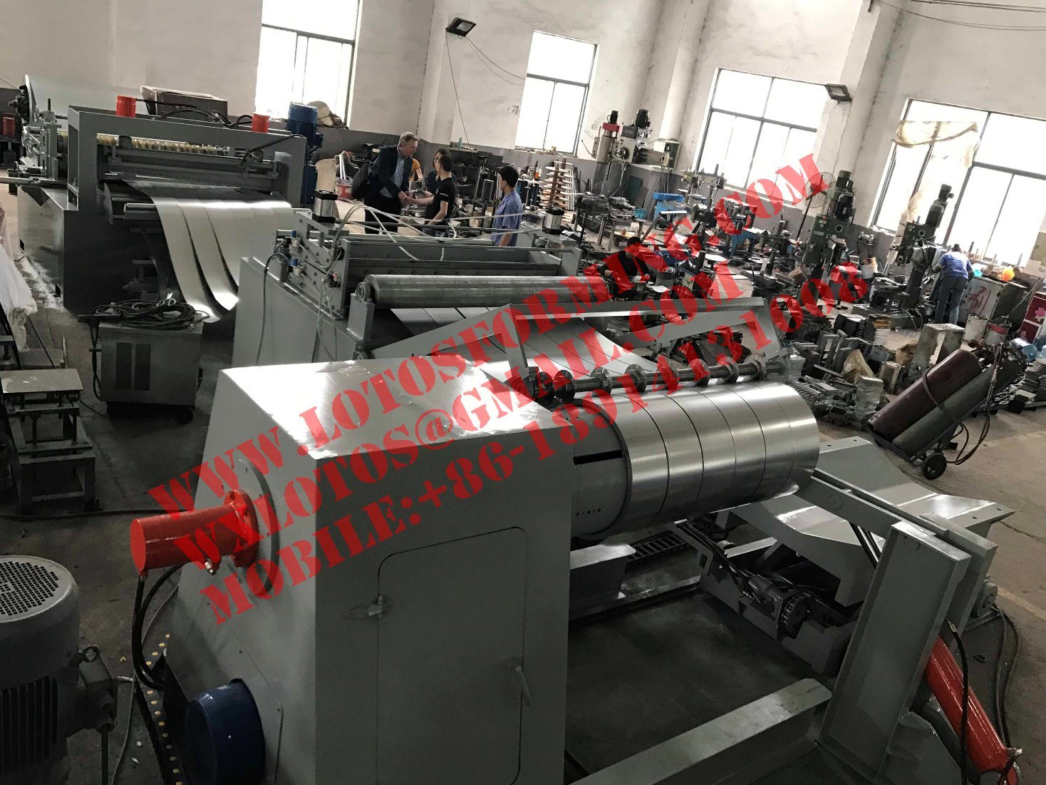 Automatic Steel Plate Slitting Line Machine