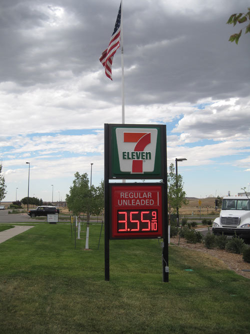 """Outdoor Remote Controlled 12"""" Gas Price LED Sign (TT30)"""