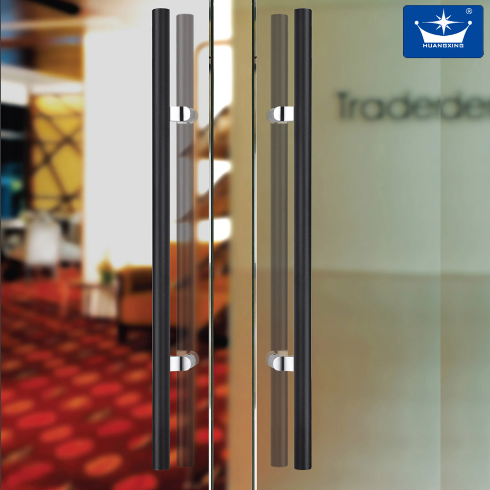 Polish and Satin Stainless Steel Glass Door Handle