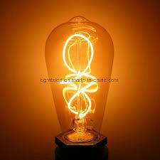 Soft filament LED light incandescent lamp bulb energy saving