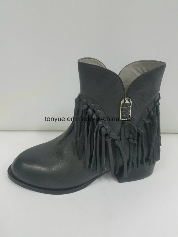 Lady Leather Brush Color Restoring Ancient Ways Pointed Ankle Boots
