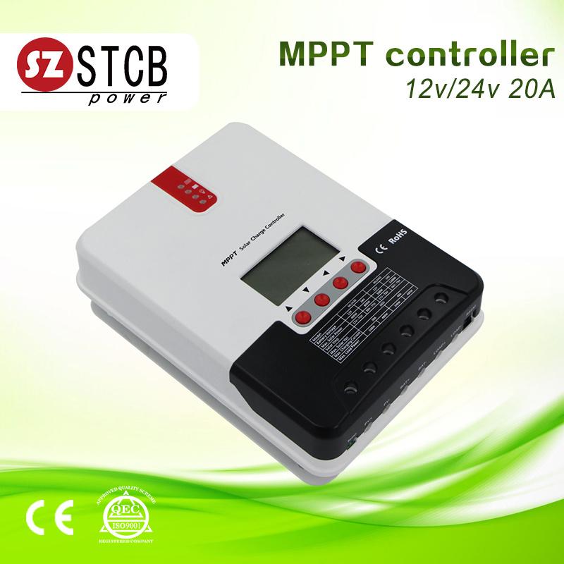 LCD Display MPPT Solar Charge Controller 12V 24V 48V 60A