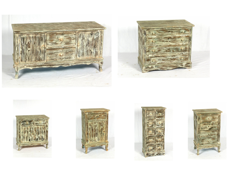 Retro Wooden Furniture House Decoration Wood Cabinet with Drawers