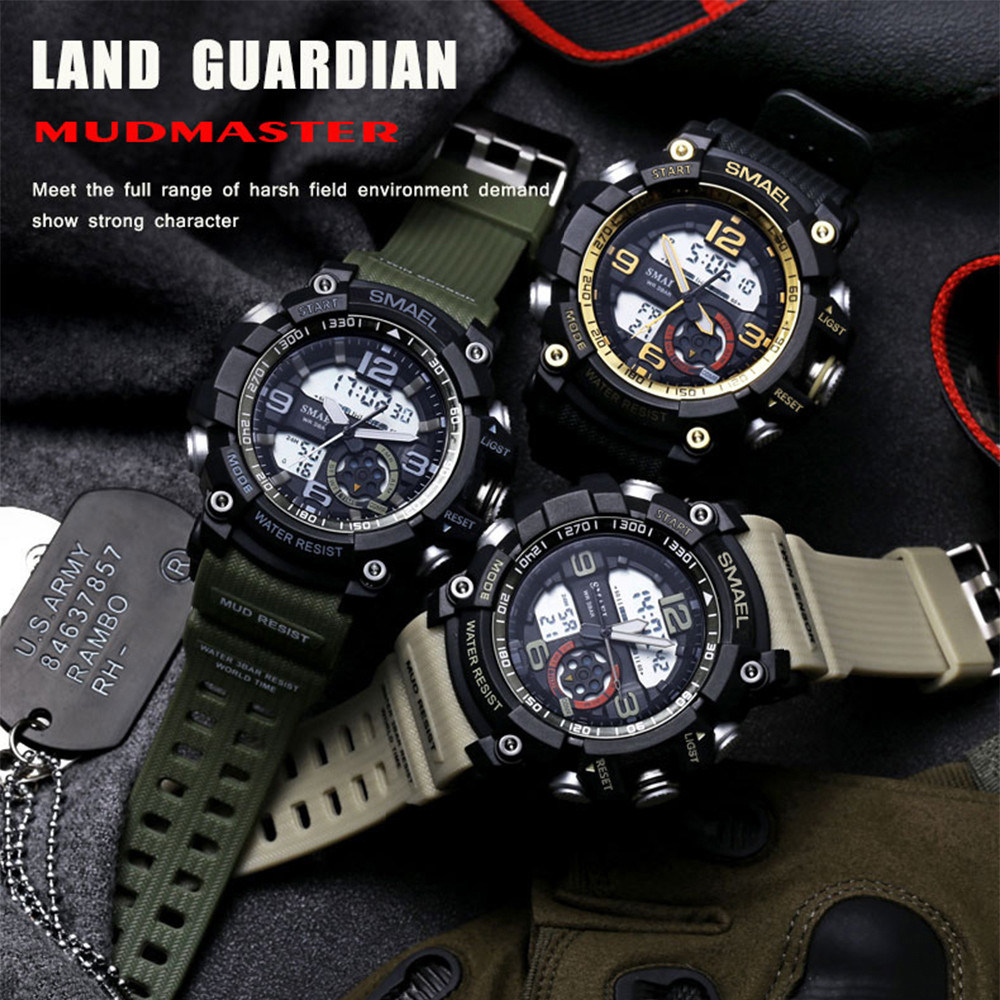 Newest Wrist Hot Selling Two-Movement Watch with Silicone Strap