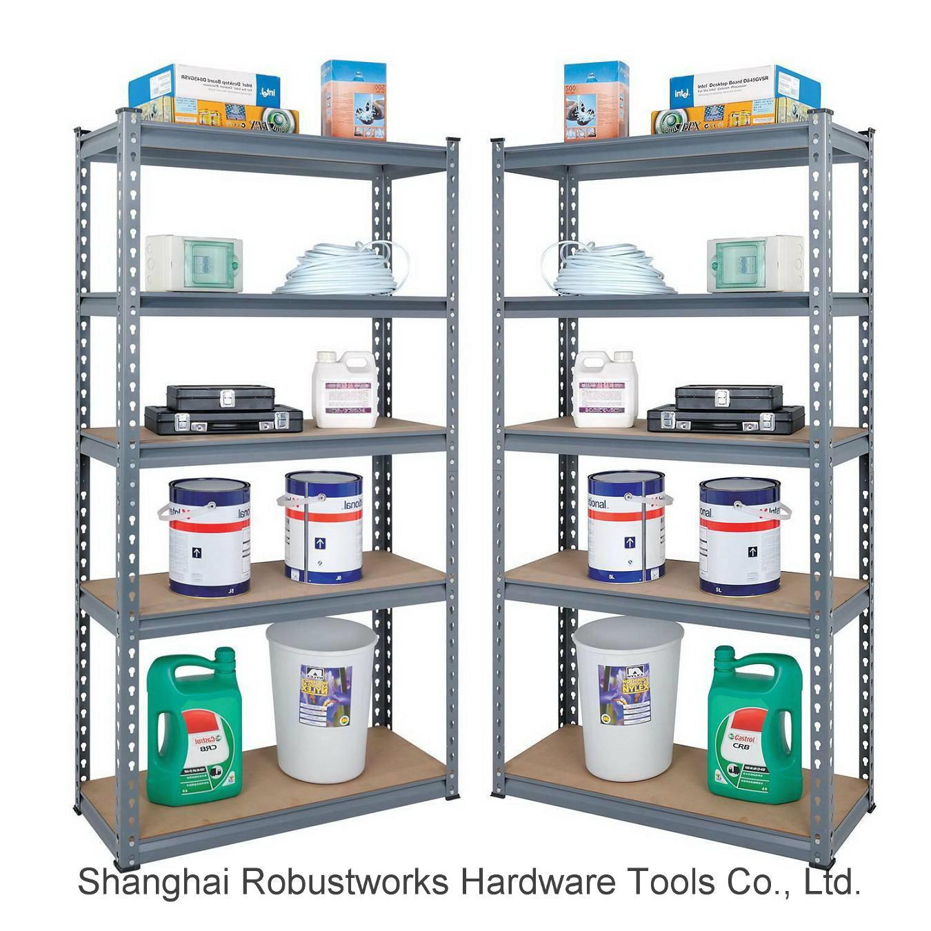 5 Tiers Metal Storage Shelf Steel Rack (7030-100)
