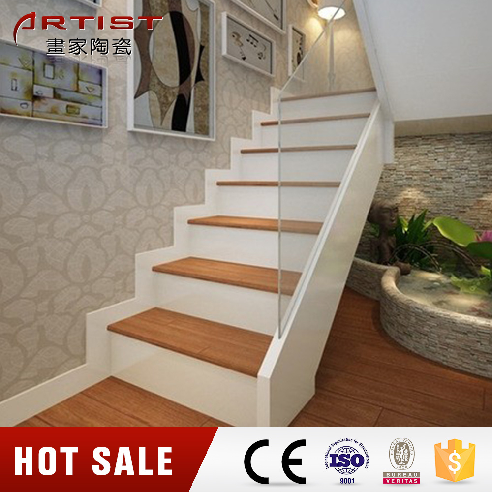 Caribben Wood Brown Look Stairs Floor Tile