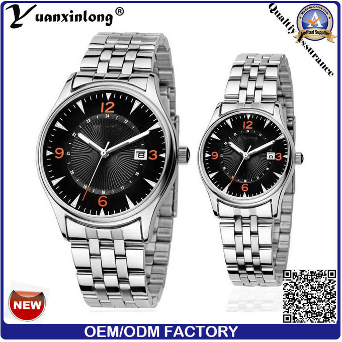 Yxl-558 New Fashion Women Men Quartz Stainless Steel Watch Couple Wrist Watches Luxury Brand Lovers Watches