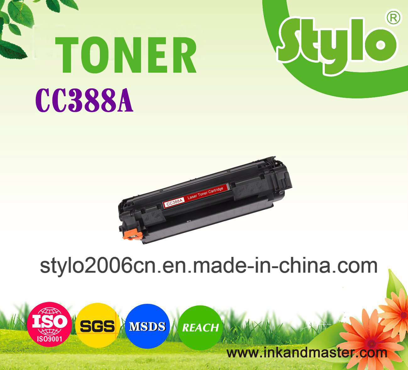 Cc388A (88A) Toner Cartridge for Use HP Laserjet Printer