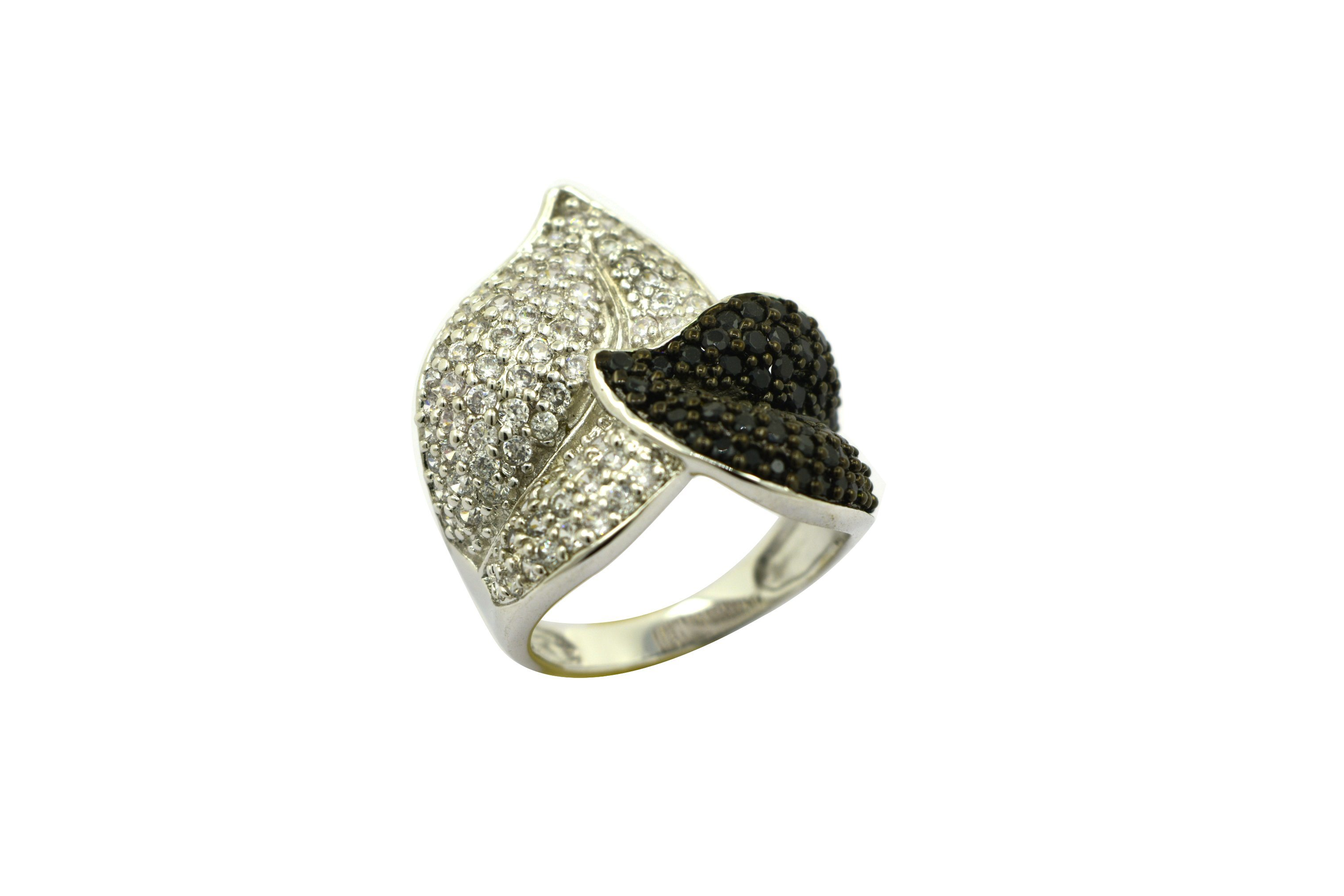 925 Sterling Silver Leaf CZ Ring Jewelry
