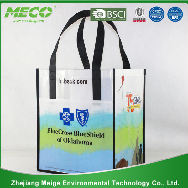 BSCI Audited Factory Laminated Non Woven Bag with Printing (MECO123)