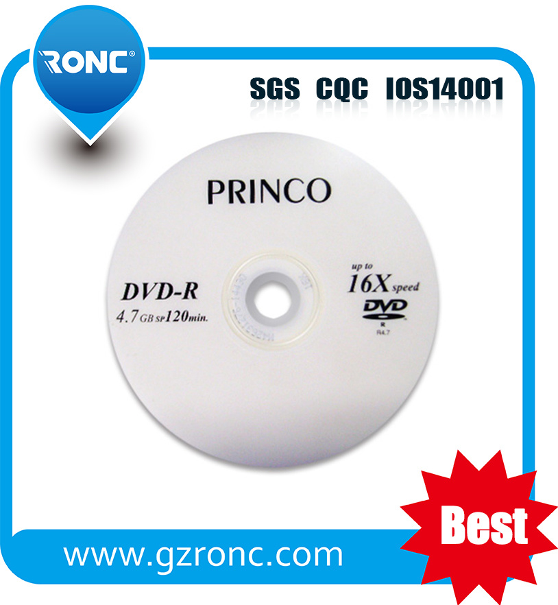 Largest Factory 4.7GB 16X Grade a+ Cheap Blank DVD-R