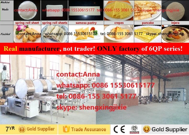 Automatic Spring Roll Sheets Machine/Samosa Pastry Machine/Injera Machine/Lumpia Wrapper Machine (real factory not trader)