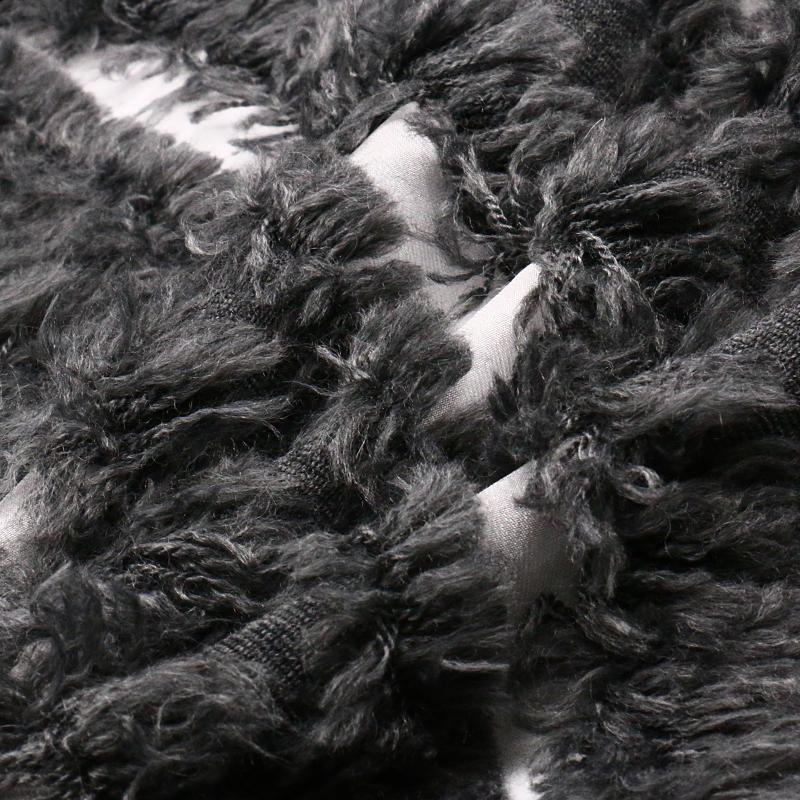 Processed Nylon Wool Fabric with Fur