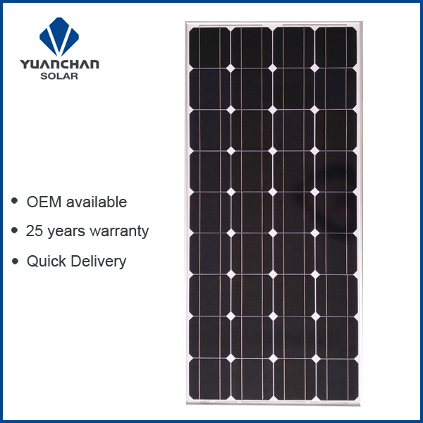 Yuanchan 150W Mono Solar Panel From China Manufacturer with Low Price