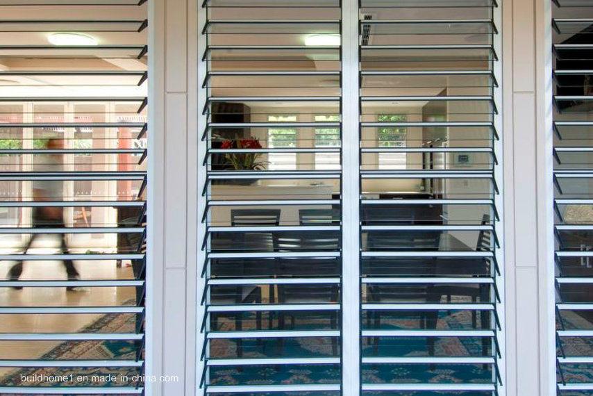 Secure Burglar Proofing Aluminium Frame Jalousie Louver Window