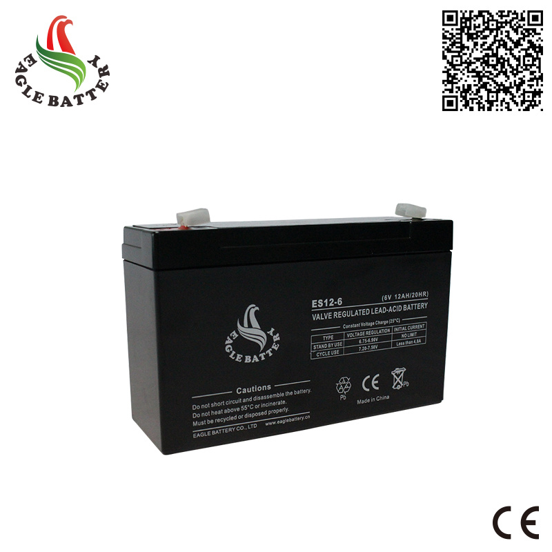 6V 12ah AGM Sealed Lead Acid Battery for UPS