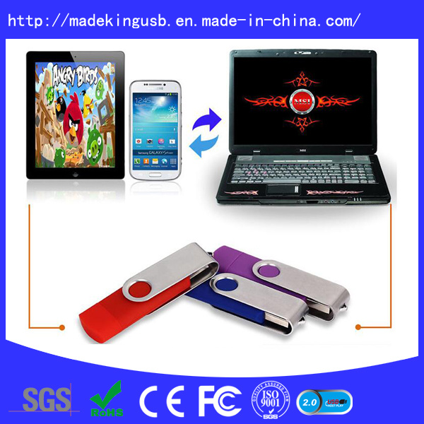 Hot Sale Swivel Plastic Promotion Gift OTG USB Flash Drive