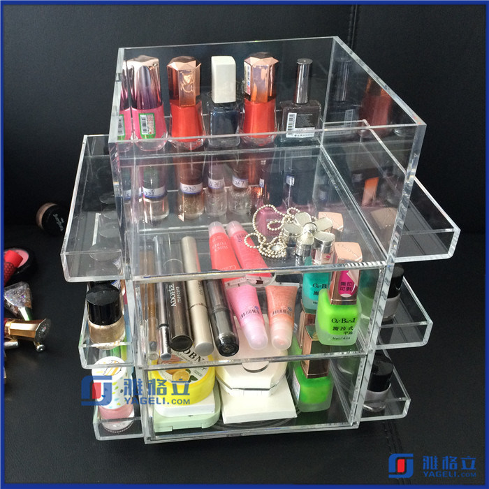 Acrylic Rotating Beauty Care Nail Polish Spinning Organizer