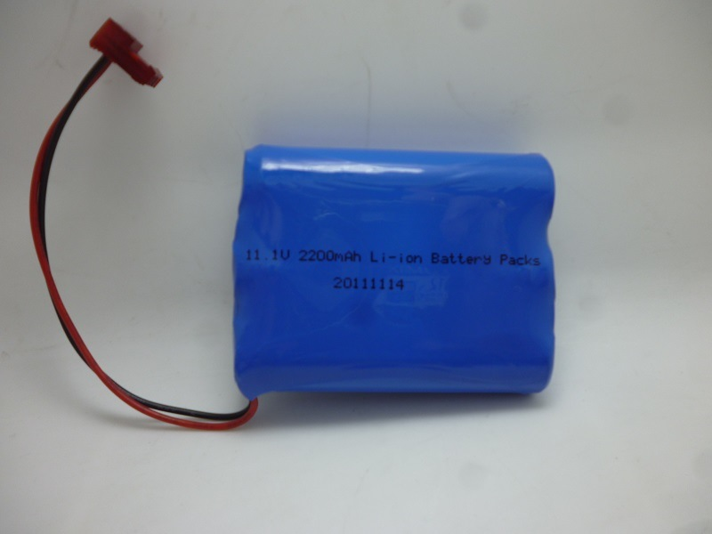 Lithium Battery Pack 11.1V Capacity 2200mAh 3s1p 18650