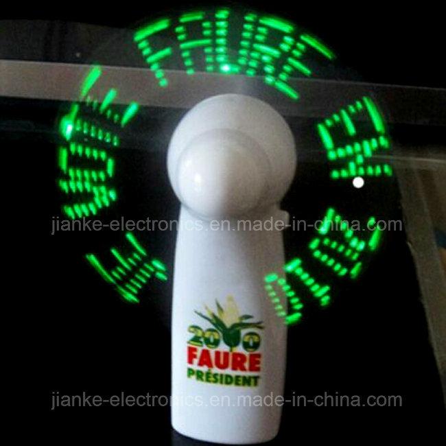 Custom Program Mini LED Light Message Fan (3509)