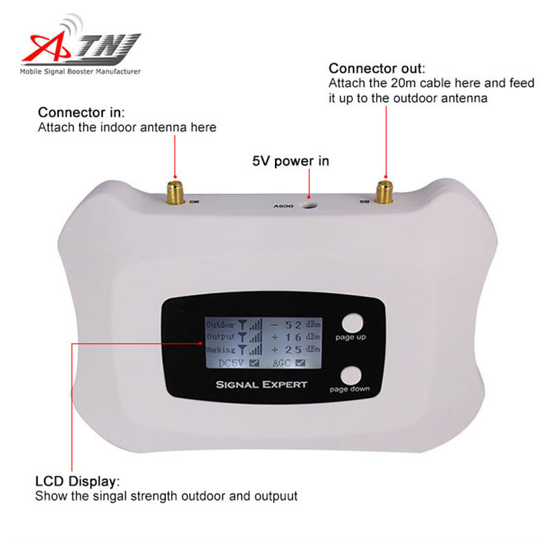 1800MHz Dcs Mobile Signal Repeater 2g 4G Signal Booster