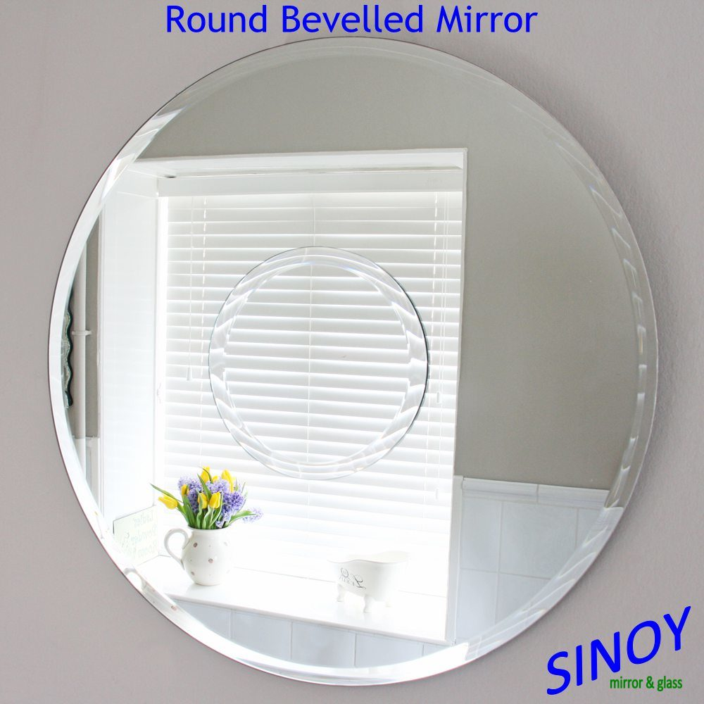 China Decorative Beveled Edge Mirror Glass for Bathroom or Furniture Applications, From Waterproof Clear Silver Mirror