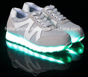 Latest Men Flash Luminous Light LED Shoes Leisure Sport Shoes (FF326-4)