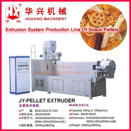 Extrusion Systems Production Line of Snack Pellets (Cracker/3D Snack Pellet Extruder System)
