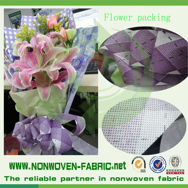 Colors and Printed Nonwoven Flower Packing Material