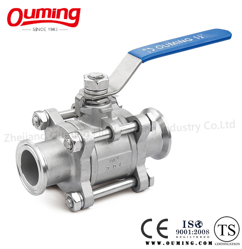 3piece Clamped/Quick Install Stainless Steel Ball Valve