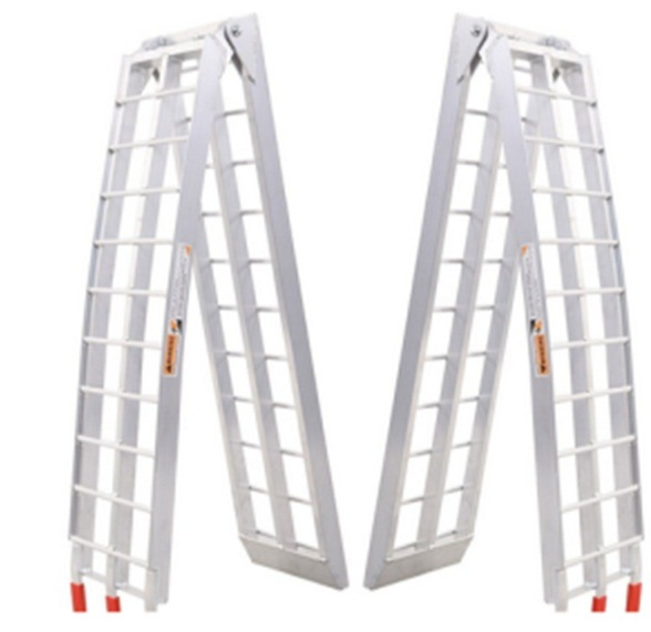 Heavy Duty Aluminum Motorcycle Bike Arched Foldable Loading Ramps