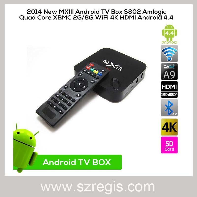 Android4.4 Quad Core WiFi 4khdmi Set Top Receiver TV Box
