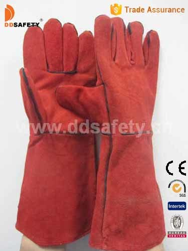 Ddsafety 2017 Red Cow Split Welding Gloves
