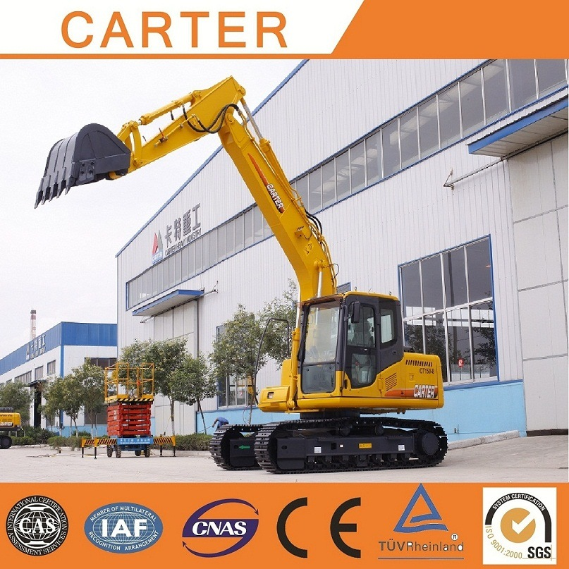 Hot Sales CT150 (15T) Multifunction Hydraulic Heavy Duty Crawler Backhoe Excavator