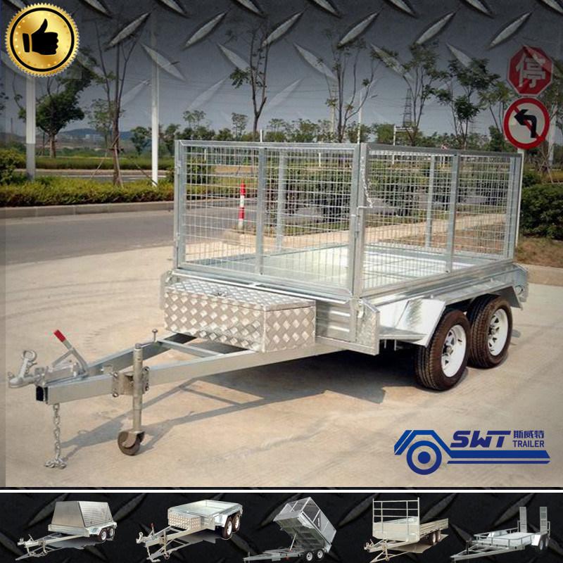 Galvanized Cage Trailer Tractor Dump Truck Trailer (SWT-TT85)